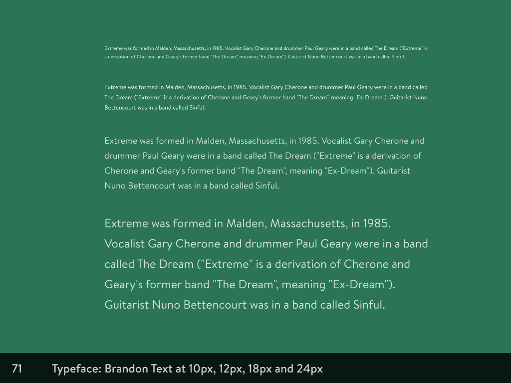 Different sized paragraphs at 10px, 12px, 18px and 24px