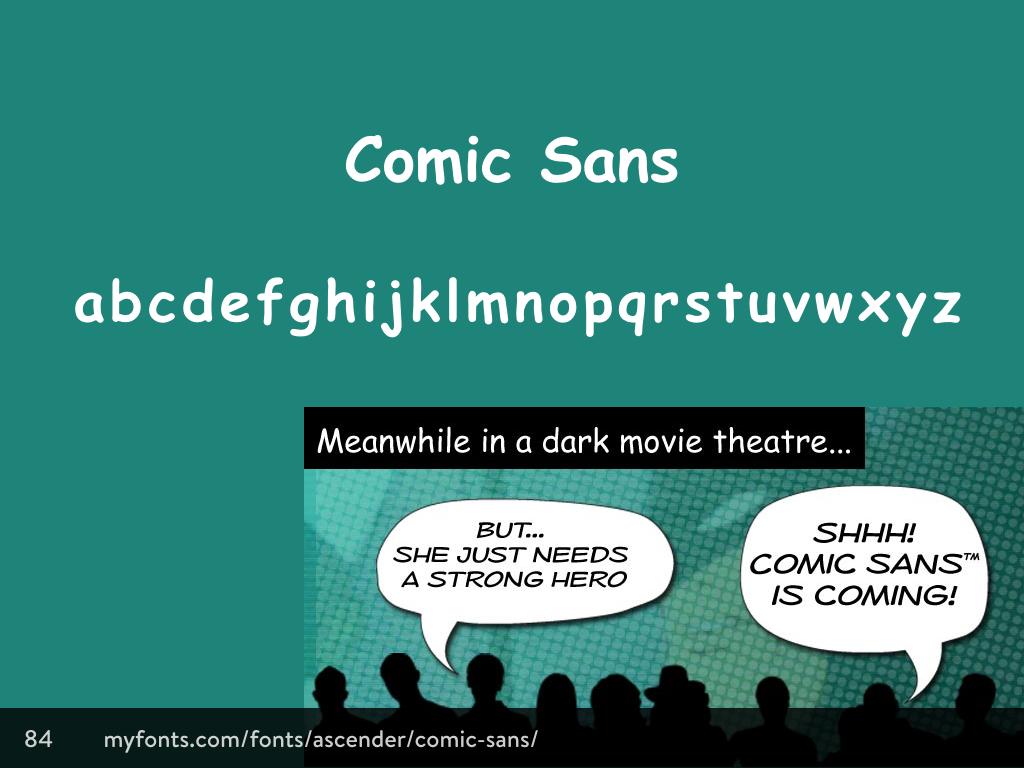 Comic Sans typeface