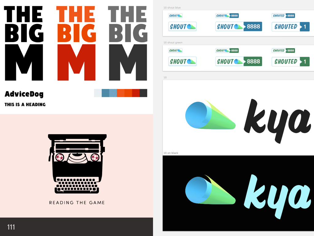 Logo designs with accessible text colours