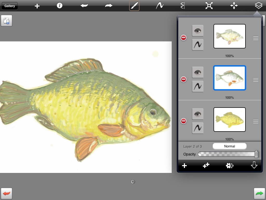 layers in SketchBook Pro