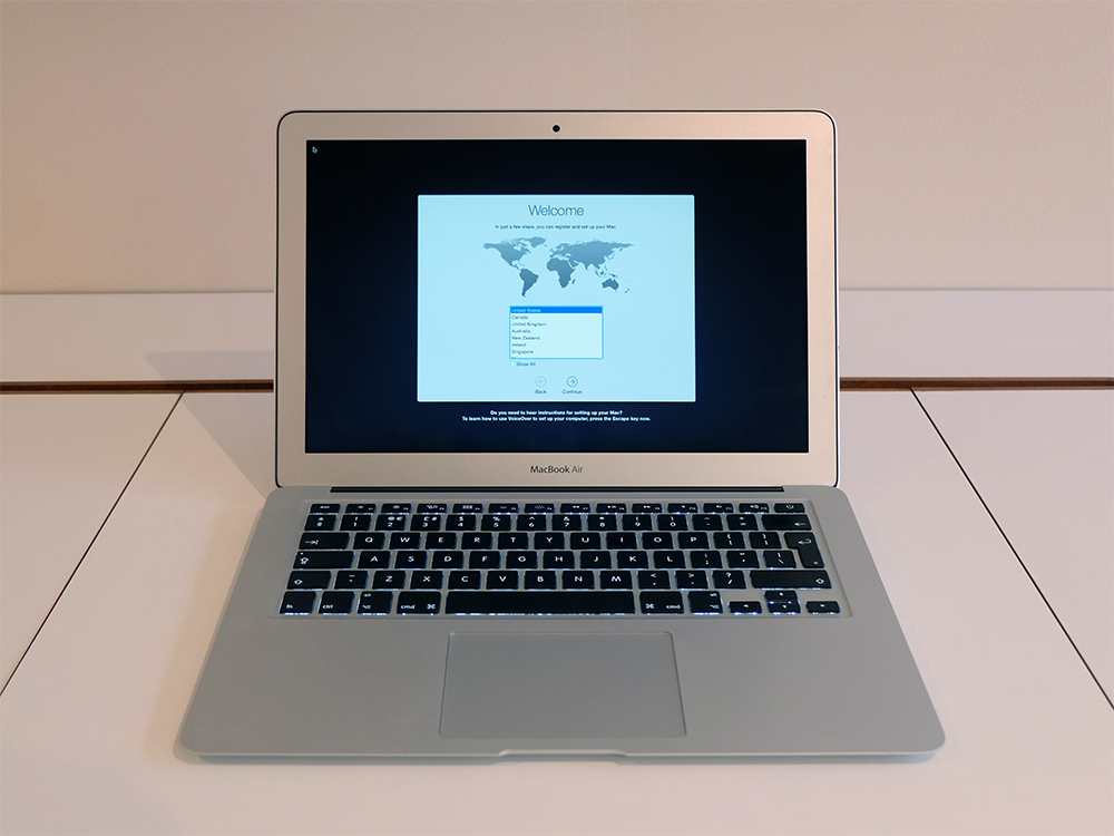 Mid 2013 MacBook Air from front