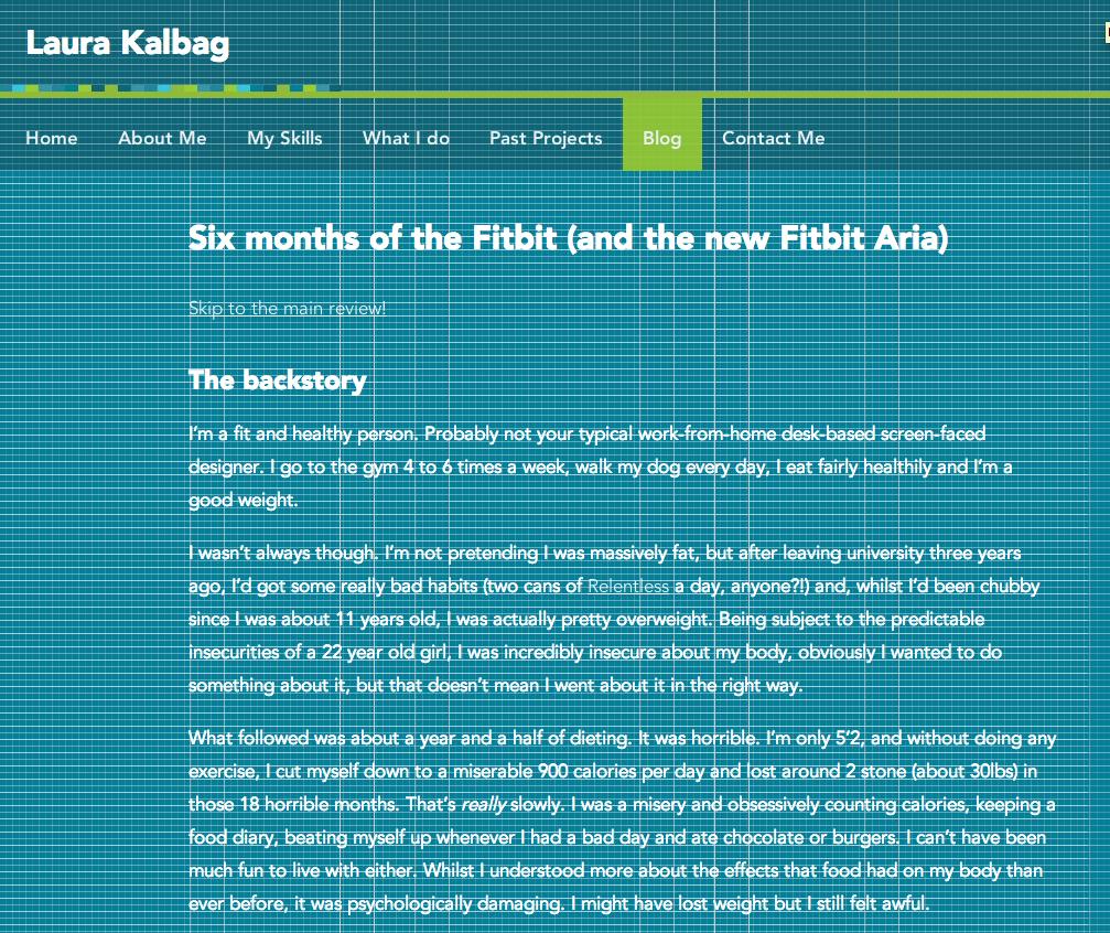 Medium-width blog page