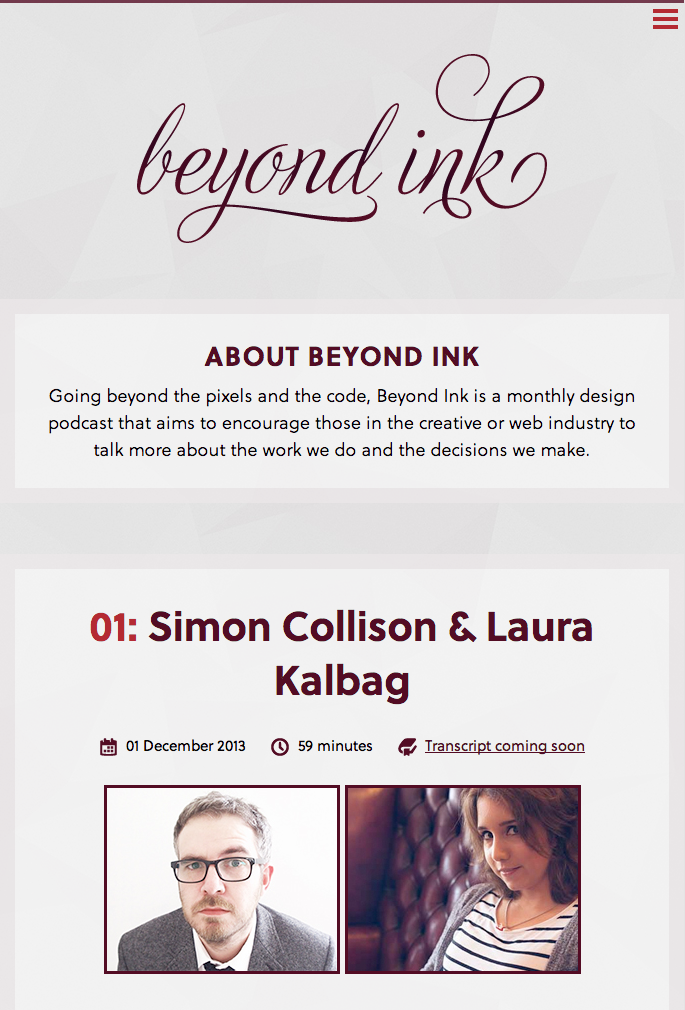 Beyond Ink podcast by Rachel Shillcock