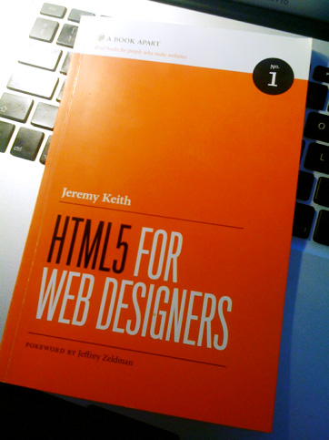 my copy of HTML5 For Web Designers