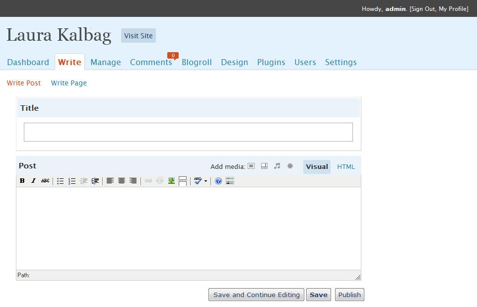 WordPress 2.7 post editor