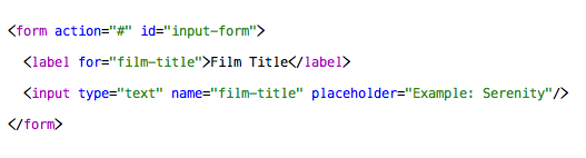 HTML5 form snippet