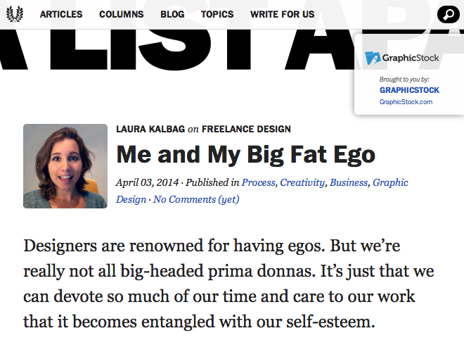Me and My Big Fat Ego column on A List Apart
