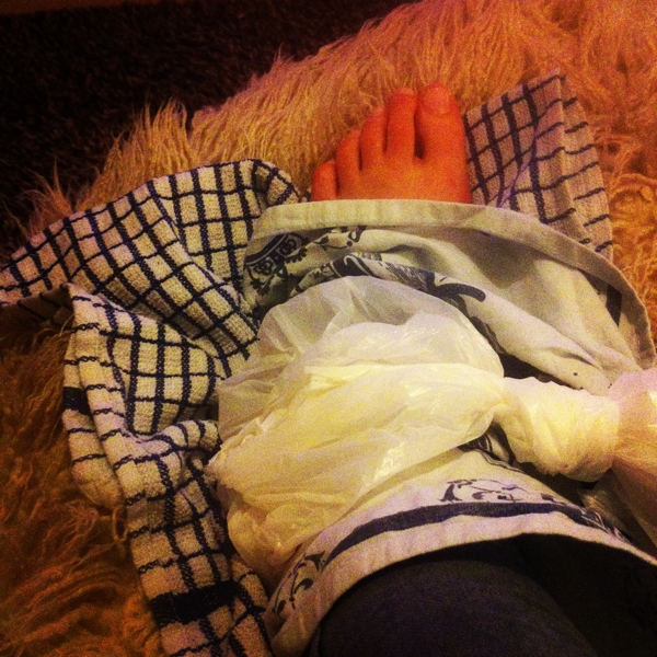 My sprained ankle which made November very difficult
