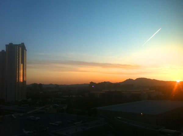 One of a few sunrises I experienced whilst extremely jetlagged at Future Insights Live in Vegas