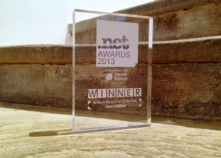 .net award 2013 Winner, Brilliant Newcomer