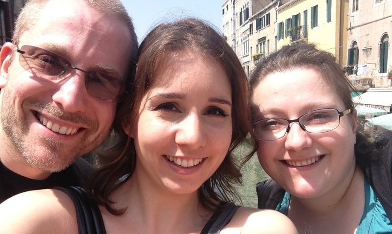 Aral, me and Nina in Venice