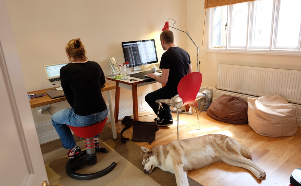 Jo, Aral and Oskar in the Ind.ie office