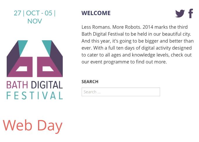 Web Day at Bath Digital Festival