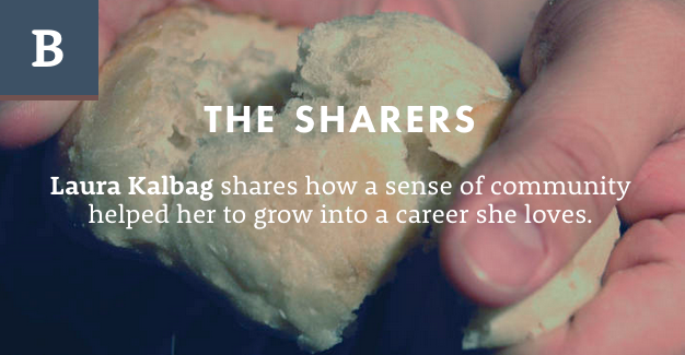 Screenshot from The Branch website: The Sharers - Laura Kalbag shares how a sense of community helped her to grow into a career she loves.