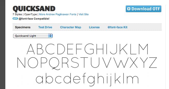 Quicksand font at Font Squirrel