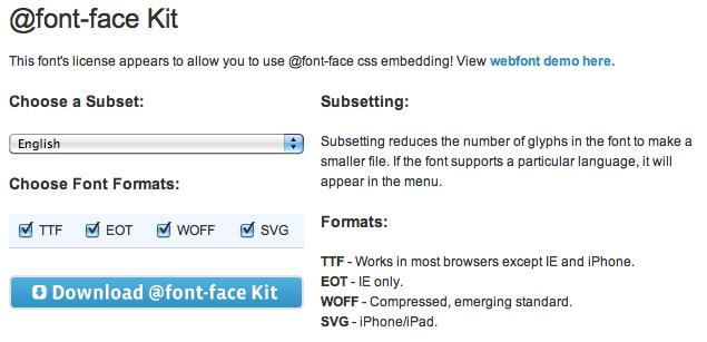 Font Squirrel @font-face kit download
