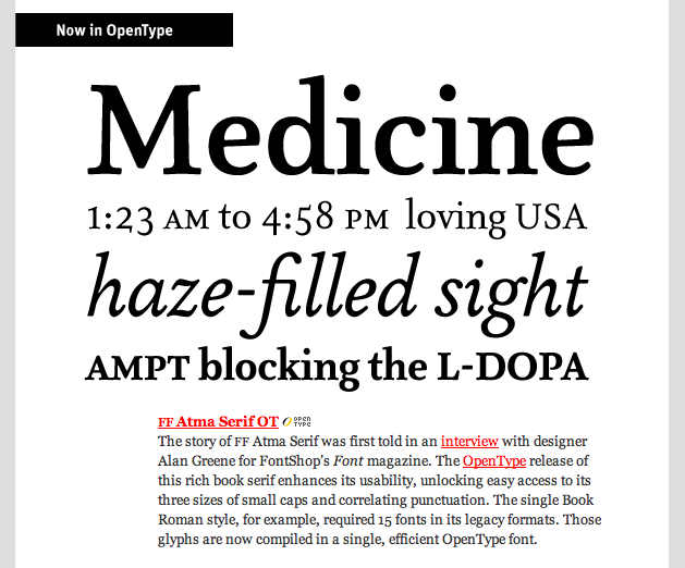 One of FontShop's lovely e-mail newsletters