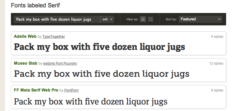 Proper nice fonts from Typekit