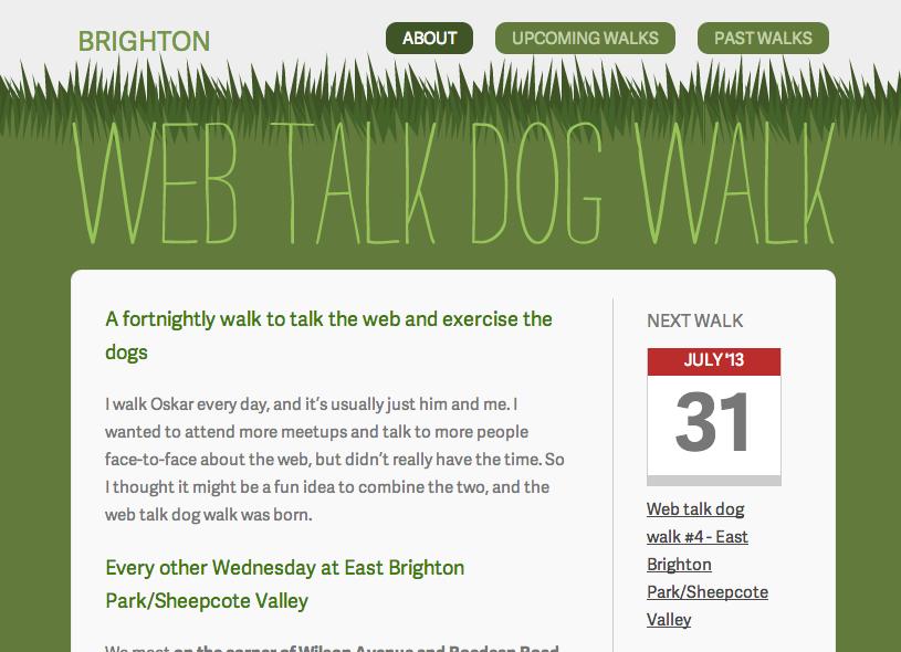 Web talk dog walk