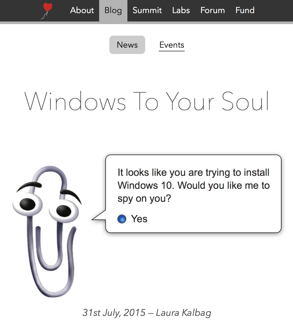 Screenshot of Ind.ie roundup Windows To Your Soul